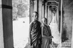 Young Monks posing for a photo