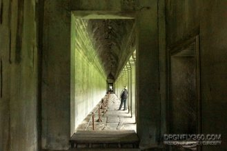 Corridors with walls carved with historic accounts