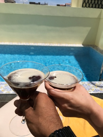 Espresso Martinis by the Pool at Infante Sagres