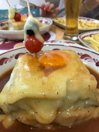 Local favourite, Francesinha